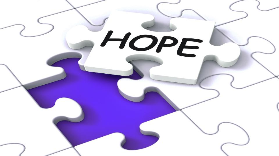 Jigsaw saying Hope