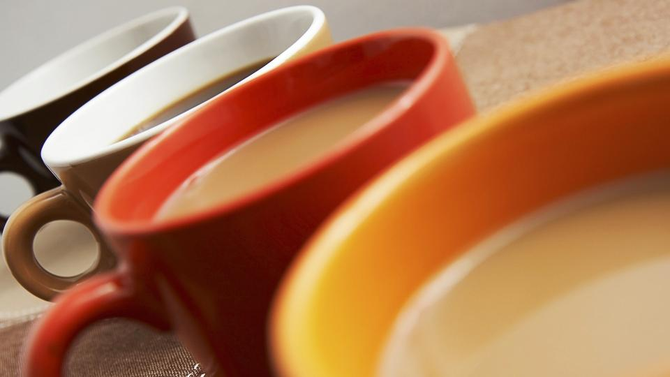 Picture of coffee cups with coffee in them